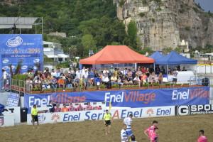 La tribuna della Beach Arena Carlo Guarnieri