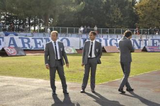 Attilio Saturno, patron del Terracina calcio e il presidente Pino Petrucci