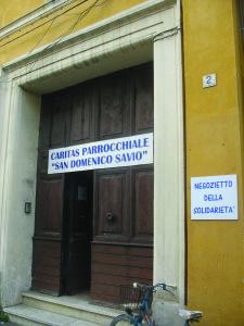 La sede della Caritas nello stabile dell'Istituto Antonelli