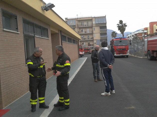 L'attuale caserma dei vigili del fuoco di Terracina in via Mantegna