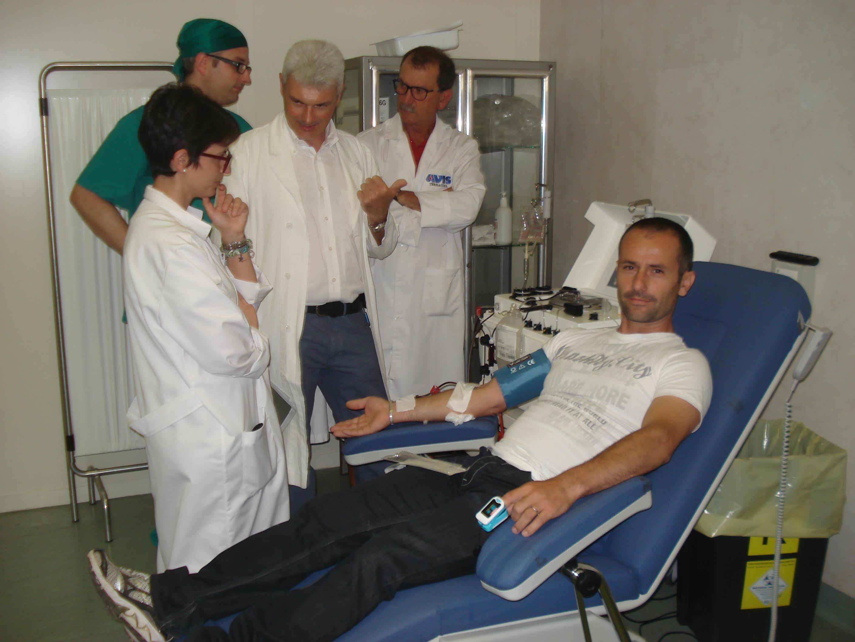 Cristian Valvassori. donazione in aferesi. Anxur Time