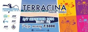 Il logo degli Internazionali di Beach Tennis a Terracina. Anxur Time