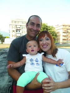 Pierfrancesco Troccoli, Rossella Bersani e la piccola Lara. Anxur Time