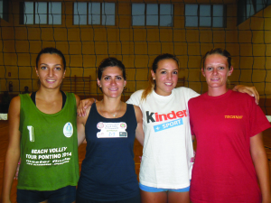 da sinistra Valeria Luongo, Veronica Grimaldi, Veronica Cinelli e Martina Vincenzi. Anxur Time