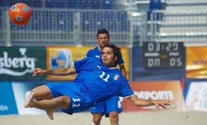 Il bomber del Terracina e della Nazionale di Beach Soccer, Paolo Palmacci. Anxur Time