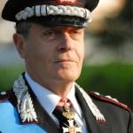 Il Generale di Corpo d'Armata dei Carabinier, Ugo Zottin. Anxur Time