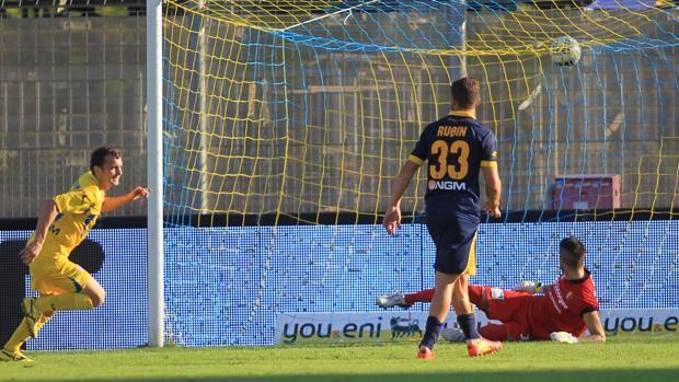 massimiliano carlini, primo gol in serie b.anxur time
