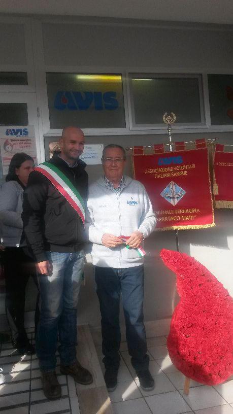 Il Sindaco di Terracina Nicola Procaccini e il Presidente Avis di Terracina Bruno Maiello. Anxur Time