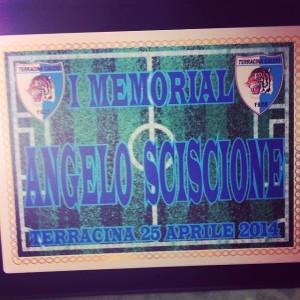 Memorial Angelo Sciscione.La targa della prima edizione. Anxur Time
