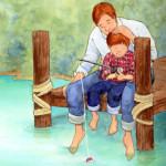 a pesca con papà