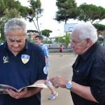 Il Presidente della Futura Terracina Edoardo Bondatti con Rolando Radicioni della Fipav Latina. Anxur Time