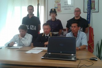 Conferenza stampa Commissariato Polizia. Anxur Time