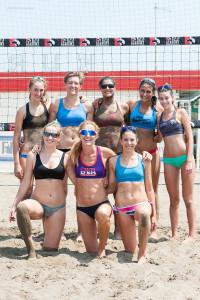 Le atlete del CQR Beach Volley con Coach Daniela Gattelli