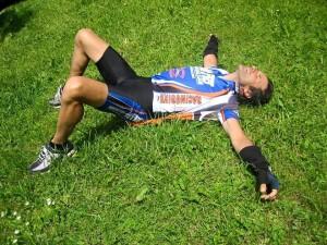 Antonio Falcone alla Maratona delle Dolomiti