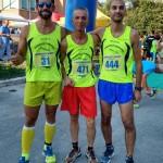 Fernando Fiore,  Piero Mangoni e Maurizio Muccitelli(Podistica Terracina) a Pontinia. Anxur Time