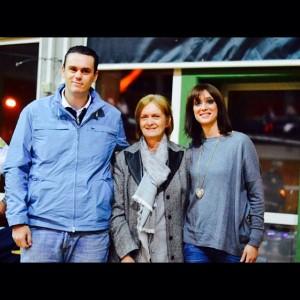 I figli di Angelo Sciscione, Augusto e Letizia e la moglie Gabriella. Anxur Time