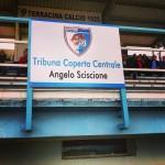la tribuna dello stadio intitolare ad Angelo Sciscione. Anxur Time