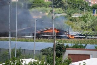 Incendio capannone Via Mortacino. Anxur Time