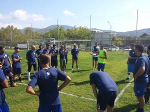 Gli aspiranti giocatori dell'ASD Città di Terracina agli ordini di Fabio Di Sauro. Anxur Time