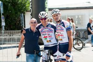 Il Presidente del TBT Marcello Cervini con Sergio Diana e Orlando Bisozi