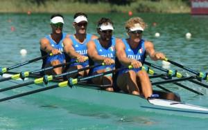 Per Simone Vnier(ultimo nell'imbarcazione) Olimpiadi rimandate.Anxur Time