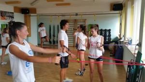 La palestra One Fitness. Luca Madaluni e le futurine.Anxur Time