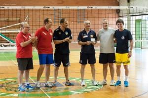 Lo staff tecnico della Pallavolo Futura Terracina '02 con Maurizio Moretti. Anxur Time