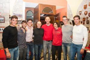 Sanguigni e Madaluni con i campioni olimpici
