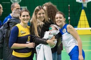 Capitan Grimaldi, Veronica Cinelli, il piccolo Leonardo e Federica Stefanelli(pallavolo futura terracina '92). Anxur Time