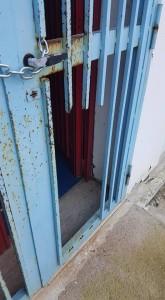 il cancello dello stadio Mario Colavolpe. Anxur Time