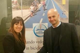 Barbara Cerilli con Nicola Procaccini. Anxur Time
