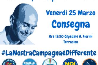 Donazione ospedale, Nicola Procaccini. Anxur Time