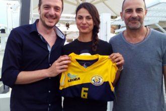 Giuseppe Peluso(d.s.Pallavolo Futura Terracina '92), Sara Vanno e Massimiliano Leonardi (coach Pallavolo Futura Terracina '92)
