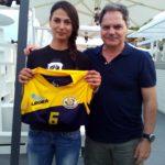 Sara Vanno e il Ptresidente della Pallvolo Futura terracina '92 Libero Iannelli(Anxur time)