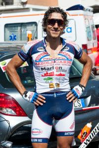 Luca Madaluni all'arrivo della GFNY 2015