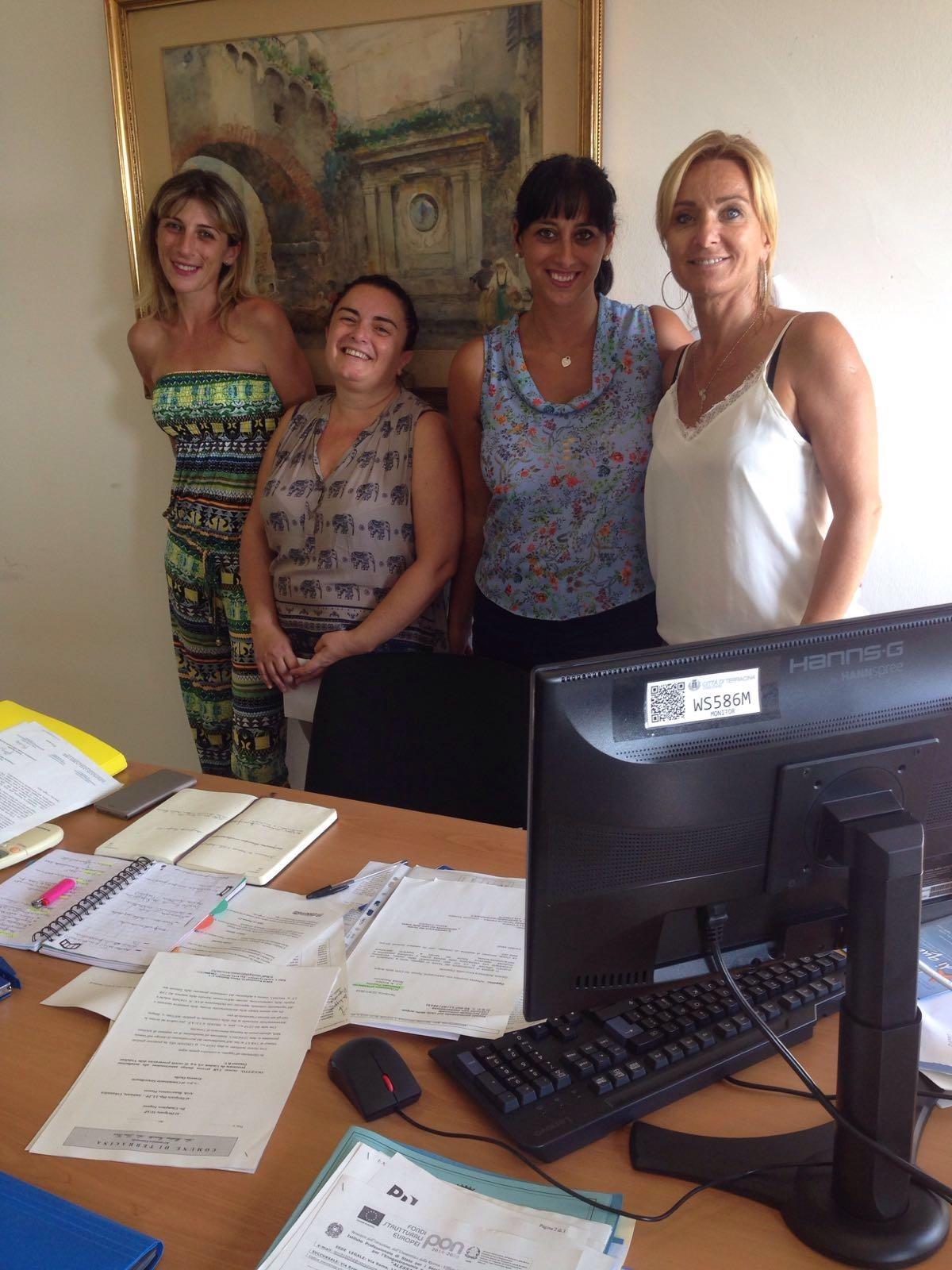 Barbara Longarini, Barbara Percoco, Anna Palumbo e l'Assessore Emanuela Zappone. Anxur time