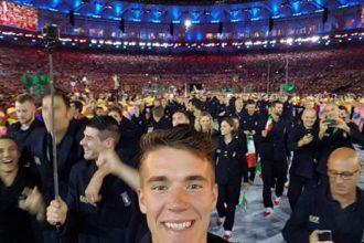 matteo lodo alla cerimonia inaugurale delle Olimpiadi di Rio. Anxur time