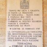 targa Goethe a Terracina. Anxur time