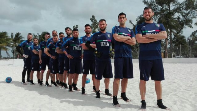 Italia beach soccer ai mondiali della bahamas. anxur time
