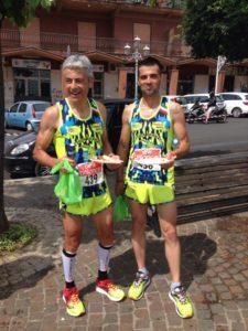 Tonino Panno e Roberto Del Bono(asd podistica terracina): anxur time