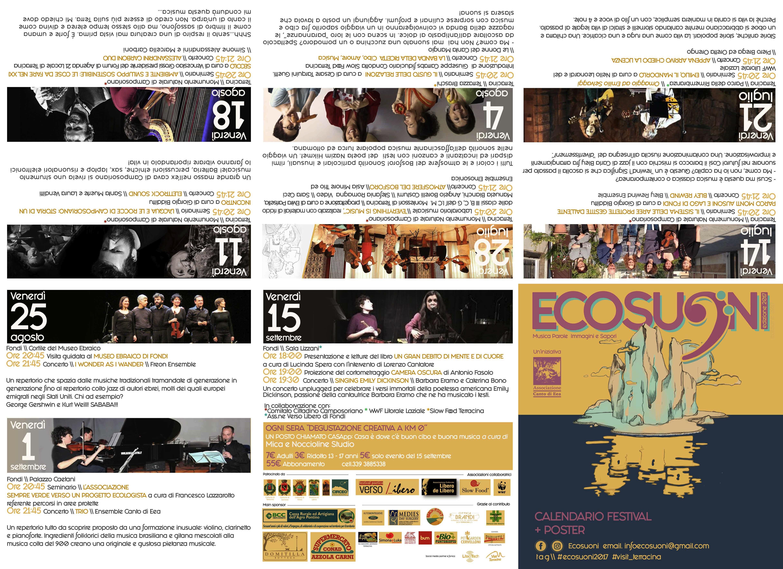 ecosuoni, programma 2017. anxur time